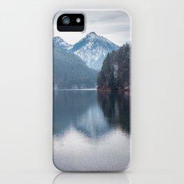 Beautiful lake, Bavarian alps iPhone Case
