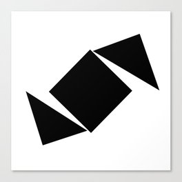 Abstract Modern Minimalist shapes Graphic Square triangles - balance Canvas Print