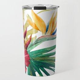 Tropical Floral Pattern 05 Travel Mug