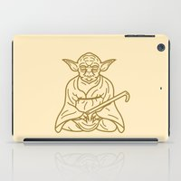 buddhism iPad Cases featuring Yoda by Roland Banrevi