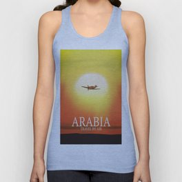 "Arabia ""Travel By Air"" Unisex Tank Top"