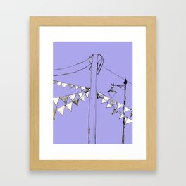 Bring out the Bunting Framed Art Print