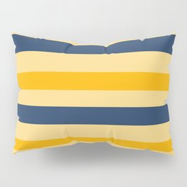 Yellow  blue  stripes  horizontal Pillow Sham