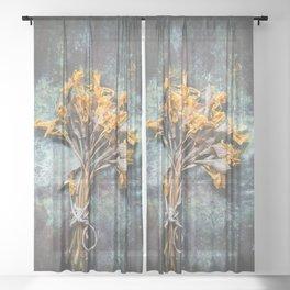 Bunch Of Daffodils Sheer Curtain