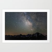 milky way Art Prints featuring Milky Way by Luke Gram