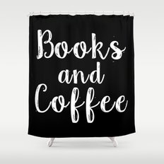 Books and Coffee - Inverted Shower Curtain