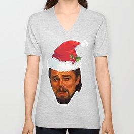 Leonardo DiCaprio laughing django unchained calvin candie meme Funny Christmas gift idea Unisex V-Neck
