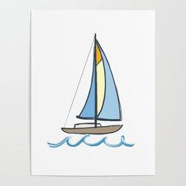 Lake Tahoe Sail On Poster