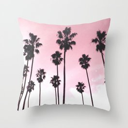 Palms & Sunset Throw Pillow