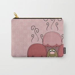 Cute Monster With Red Frosted Cupcakes Carry-All Pouch