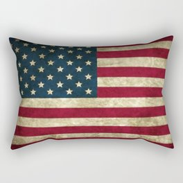 Vintage American flag Rectangular Pillow