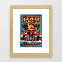 Vintage-Music Art - Fleet-wood-Mac In Concert-1969 At-Fillmore-East Framed Art Print