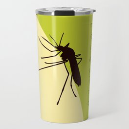 Biting mosquito print Travel Mug