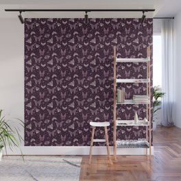 Purple Moths Wall Mural