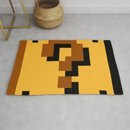 Super Mario question mark block Rug