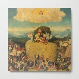 The Haywain Triptych - Hieronymus Bosch Metal Print