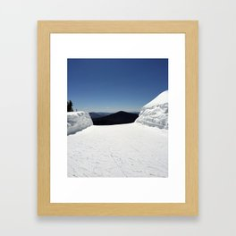View from Superstar, Killington Framed Art Print