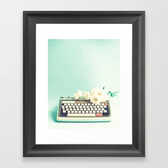 Sebastian's Typewriter  Framed Art Print