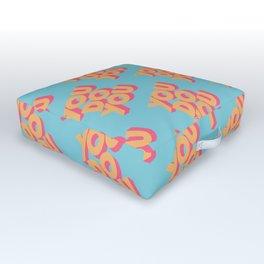 You Do You Retro Blue Outdoor Floor Cushion