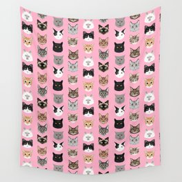 Cute Cat breed faces smiling kitten must have gifts for cat lady cat man cat lover unique pets Wall Tapestry