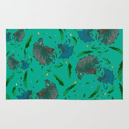 Angry Little Fish Pattern Rug