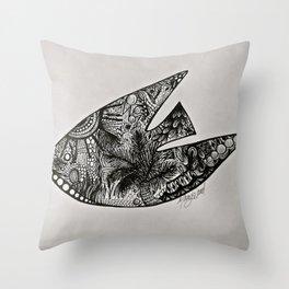Belizean Angel Fish Throw Pillow