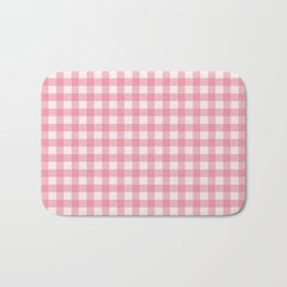 Pastel pink modern geometric check pattern Bath Mat