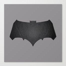 Batfleck Symbol (Realistic Symbol) Canvas Print