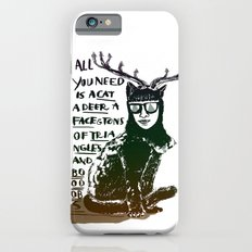 Hipster Cat giving Smart Advice iPhone 6s Slim Case