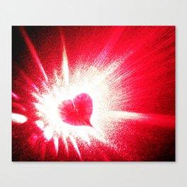 Heart boom Canvas Print