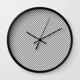 Sharkskin and White Polka Dots Wall Clock