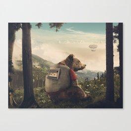 Wonderful World of Teddy Canvas Print