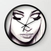 nicki Wall Clocks featuring  Nicki  by Bella Harris