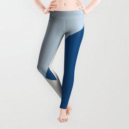 Baby Blue meets Classic Blue & Coconut Milk Geometric #1 #minimal #decor #art #society6 Leggings