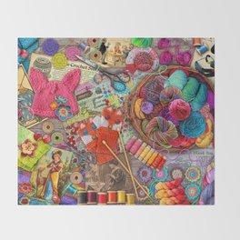 Vintage Yarn & Thread Throw Blanket