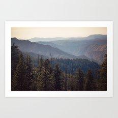 Yosemite Mountains  Art Print