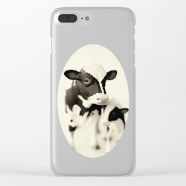 Cow and her calf Clear iPhone Case