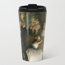The Rehearsal of the Ballet Onstage - Degas Travel Mug