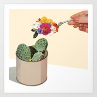 succulent Art Prints featuring SUCCULENT by Beth Hoeckel