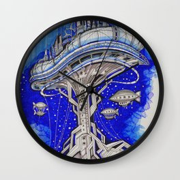 PLATFORM CITY Wall Clock