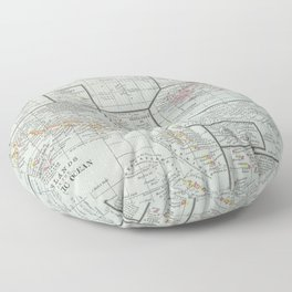 Vintage Map of The Islands of the Pacific (1901) Floor Pillow