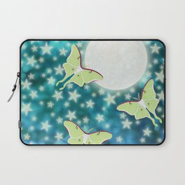 the moon, stars, luna moths, & dandelions Laptop Sleeve