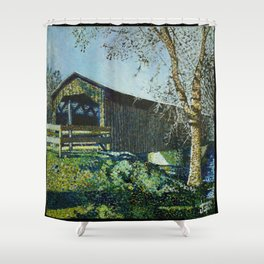 Cedarburg Covered Bridge Shower Curtain