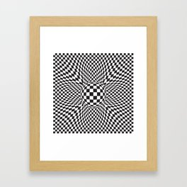 abstract squared pattern Framed Art Print
