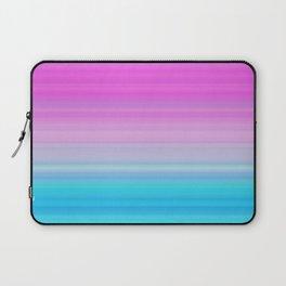 Pink & Aquamarine Blue Stripes Laptop Sleeve