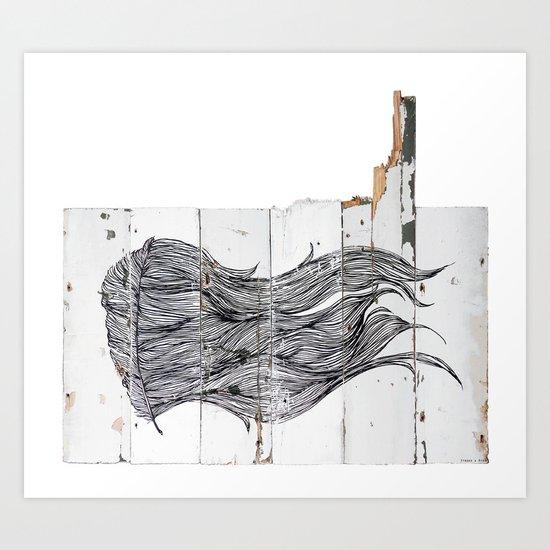 Featherwood Art Print