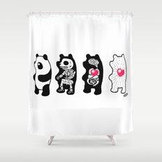 Panda Anatomy Shower Curtain