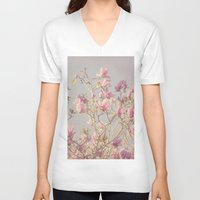 magnolia V-neck T-shirts featuring Magnolia  by Pure Nature Photos