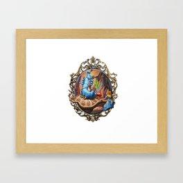 Alice And Catepillar Framed Art Print