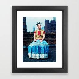 FRIDA IN NEW YORK Framed Art Print